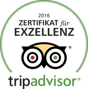 2016 - Tripadvisor Certificate for Excellency